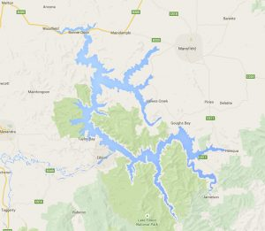 Map of Lake Eildon - Google Maps