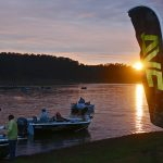 Boats preparing for the first session at Round 8 Lake Windamere.